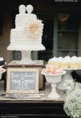 Frilly White Wedding Cake by Jay's Catering