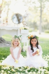 BHLDN Flower Girl Dresses / onelove photography / Tea Party Tablescape / Flower Girl Dress Ideas / A