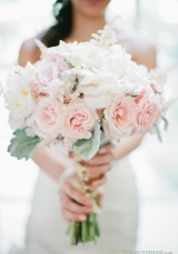 Soft Pastel Colored Bridal Bouquet