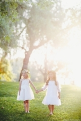 BHLDN Flower Girl Dresses / onelove photography / via StyleUnveiled.com