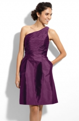 ML Monique Lhuillier Bridesmaids One Shoulder Taffeta Dress Nordstrom Exclusive