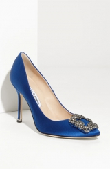 Manolo Blahnik 'Hangis' Jeweled Pump