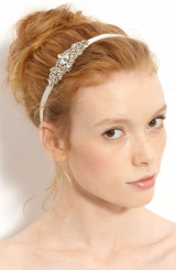 Nina 'Cece' Crystal Ribbon Head Wrap