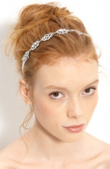 Nina 'Abril' Crystal Ribbon Head Wrap