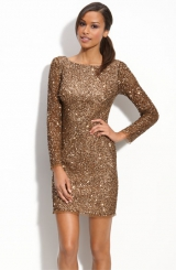 Adrianna Papell Sequin Shift Dress