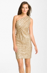 Calvin Klein Sequin One Shoulder Dress