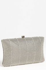 Whiting & Davis 'Crystal Stripe' Clutch