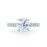 Round Diamond Ring in a Platinum Pave Setting