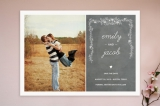 Chalkboard Save the Date Cards by SimpleTe Design