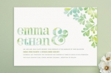 Spring Dew Wedding Invitations by Moe and Me