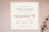 Pink Blossoms Wedding Invitations by Jennifer Wick