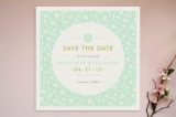 Vintage Floral Save the Date Cards by Amber Barkle...