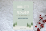 Winter Wonderland Save the Date Cards by Amber Bar...