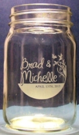 Custom Hand Etched Mason Jar