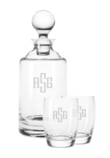 Bar None  Monogrammed Glass Set by CLINK