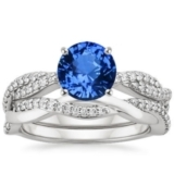 Platinum Sapphire Twisted Vine Matched Set (1/3 ct. tw.)