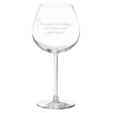 Monogrammed Red Wine Glasses for Weddings