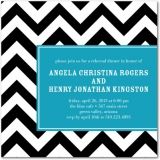 Along These Lines Signature White Rehearsal Dinner Invitations Aqua
