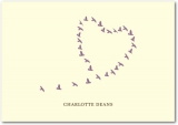 Love Birds Signature Ecru Thank You Cards Deep Plum