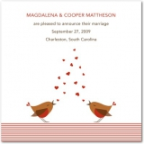 Loving Birds Signature White Wedding Announcements Cherry Red
