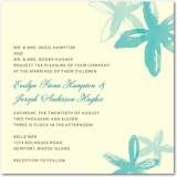 Beach Flowers Signature Ecru Wedding Invitations Paradise