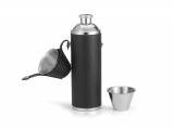 Groomstars Black Leather Hunting Flask