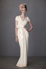 Crepe De Chine Column Gown