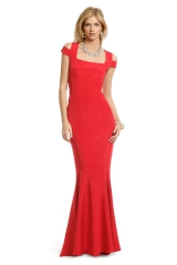 Crimson Cutout Gown