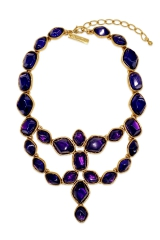 Deep Amethyst Statement Necklace