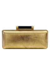 Gold Tonda Metallic Clutch