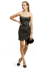 Noir Lace Cocktail Dress