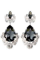 Smokey Crystal Crown Earrings