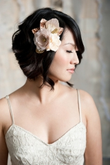 Gold floral headpiece - Flora
