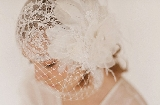 1920s CHANTILLY LACE BRIDAL CAP