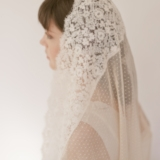 ENGLISH POINT D ESPRIT VEIL STYLE