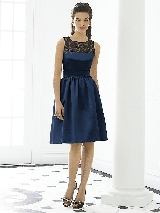 After Six Bridesmaid Dress 6644 in midnight