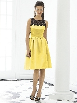 After Six Bridesmaid Dress 6644 in sunflower