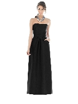 Alfred Sung Bridesmaid Dress D509 in black