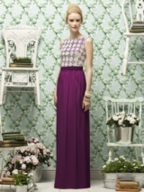 Lela Rose Style LR182 in wild berry