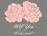 Will You Be My Bridesmaid Card - Flowers in primrose
