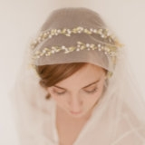 Double Wax Orange Blossom Wedding Crown 705