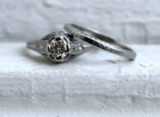 Fabulous Vintage Platinum Diamond Two Ring Engagement Set - 0.50ct