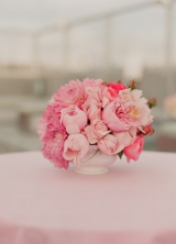 low pink centerpiece