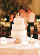 simple three tier wedding cake