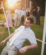 lawn games limbo wedding cocktail hour