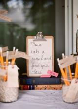 pencil escort cards