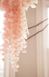 floaty pink chandelier