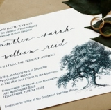 rustic inspired invitations