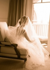 sepia bridal portraits