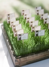 grass escort card display